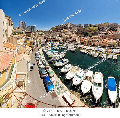 Little, port, harbour, Vallon des Auffes, town, village, water, summer, sea, ships, boat, Marseilles, Bouches du Rhone, France, Europe