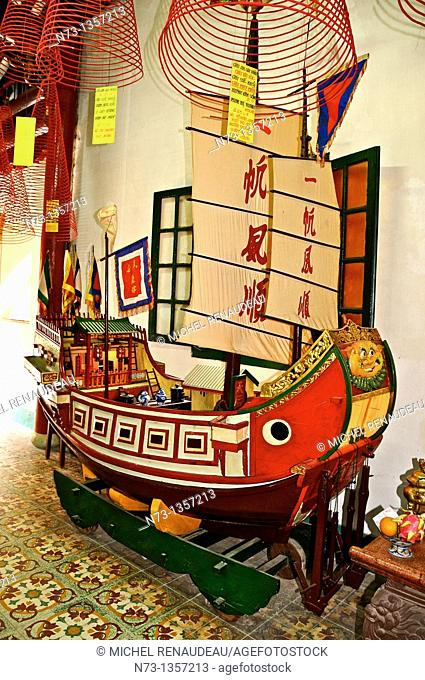 Vietnam, Quang Nam, Hoi An ancient town, declared World Heritage by UNESCO, Phu Kien Pagoda of the seventeenth century, meeting room of the Fujian Chinese...