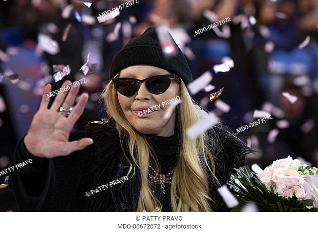 Patty Pravo on the Red Carpet of the 69th Sanremo Music Festival. Sanremo (Italy), Fabruary 4th, 2019