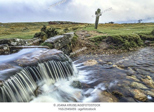Windypost Cross, Dartmoor, Devon, England, United Kingdom