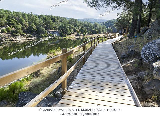 Runway on Valdedomingo reservoir. Avila. Spain