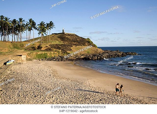 Morro do Cristo and the Praia do Farol da Barra. Salvador, Brazil