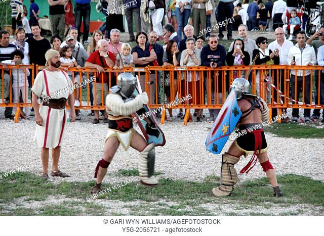Rome, Italy 14th September 2013- Ludi Romani- 4th International festival of Roman Culture and Civilisation at the Circus Maximus in Rome Italy
