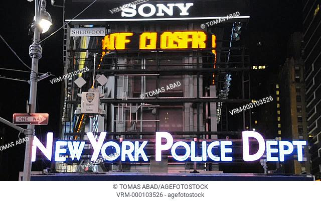 NYPD Squad Car, 42nd Street, Times Square, New York City, USA