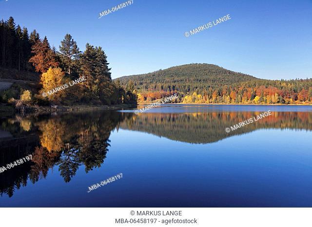 Schwarzenbachstausee (reservoir), Schwarzenbachtalsperre (dam), near Forbach, Black Forest, Baden-Wurttemberg, Germany