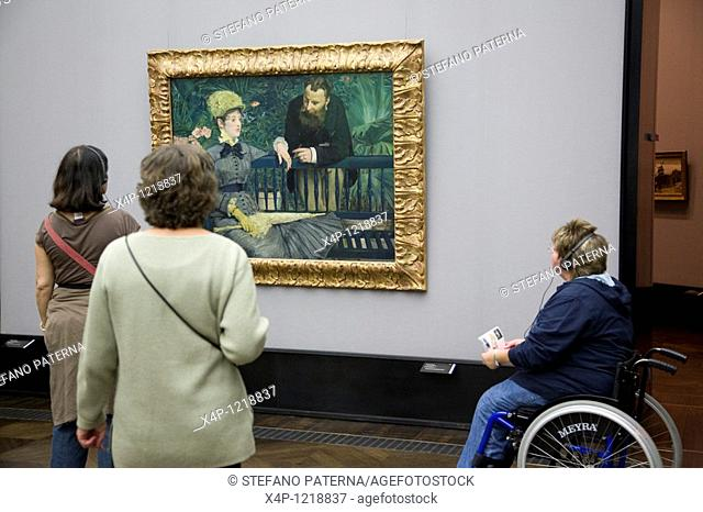 In The Conservatory 1879. By Edouard Manet 1832-1883. Alte Nationalgalerie, Berlin, Germany