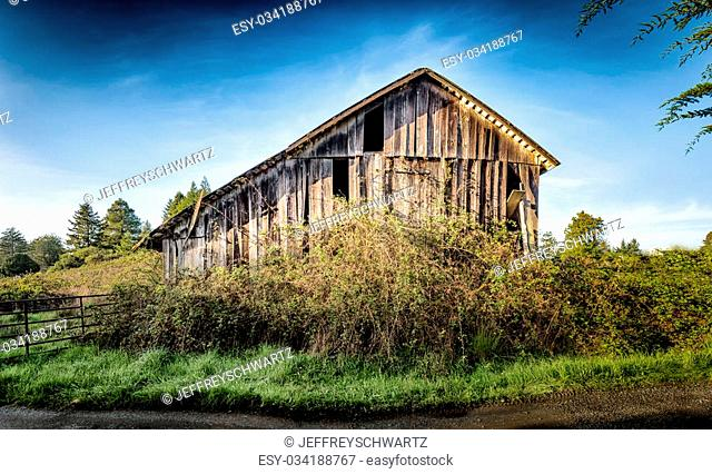 Old, Antique Barn, Farm, Landscape Image, Day