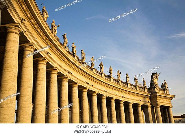 Italy, Rome, St. Peter's Square, Colonnades