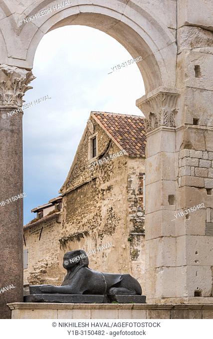 Sphinx, Peristyle, Diocletian's Palace, Split, Croatia