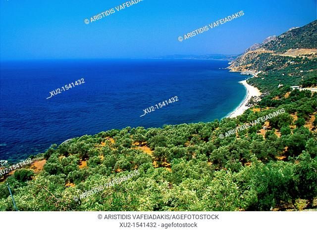 Beach at Lesvos island Greece