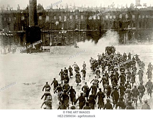 Storming the Winter Palace on 25th October, 1917 (From the Film October 1927)