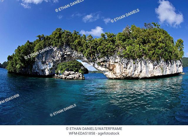 Natural Arch of Rock Islands, Micronesia, Palau