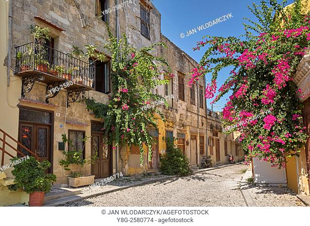 Old Town in Rhodes, Dodecanese Islands, Greece, UNESCO