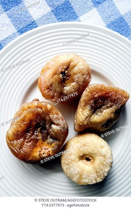Greek Cuisine. Dessert of Dried Figs