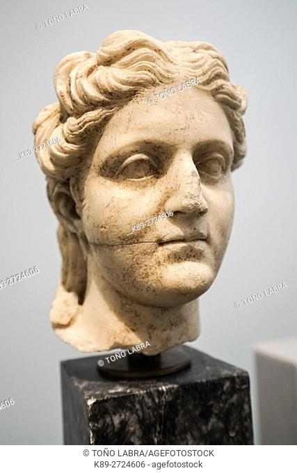 Girl bust from Agora. Aphrodisias Museum. Ancient Classic Greece. Asia Minor. Turkey