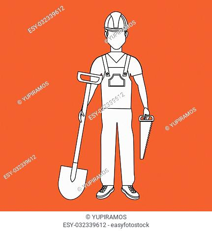 professional construction design, vector illustration eps10 graphic