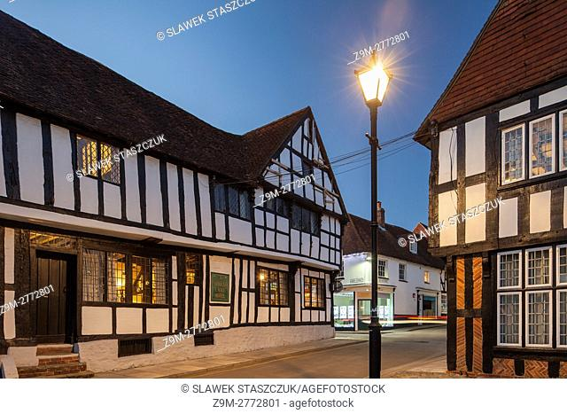 Evening in the historic town of Midhurst, West Sussex, England
