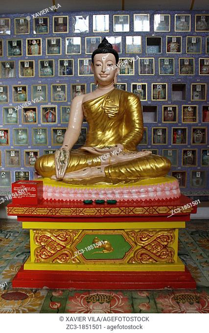 Statue in Wat Chayamangkalaram Thai Buddhist Temple in Penang, Georgetown, Malaysia