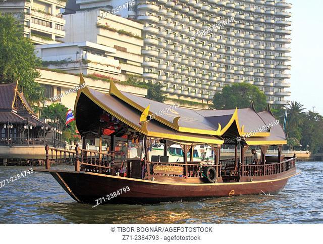 Thailand, Bangkok, Chao Phraya River, traditional boat