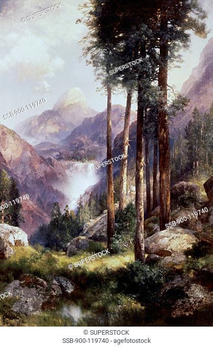 Vernon Falls, Yosemite Valley Thomas Moran 1837-1926 American