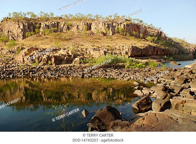 Australia, Nitmiluk National Park, Katherine Gorge, Creek and rock formations