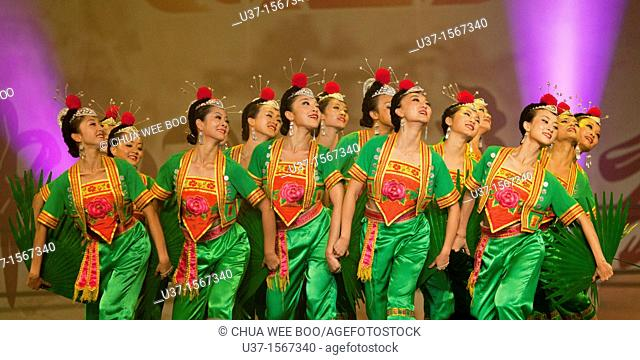 Chinese culture & arts performing in Kuching, Sarawak, Malaysia
