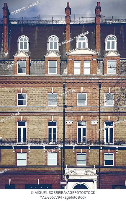 Victorian Terrace Facade - Chelsea, London UK