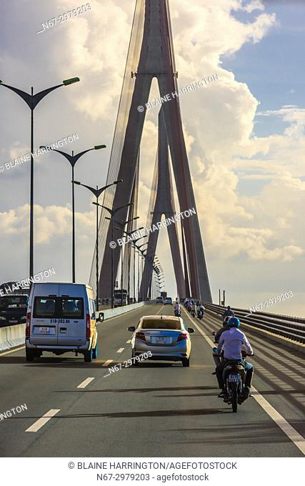 Cần Thơ Bridge, is a cable-stayed bridge over the Hậu River, the largest distributary of the Mekong River, in the city of Cần Thơ in southern Vietnam