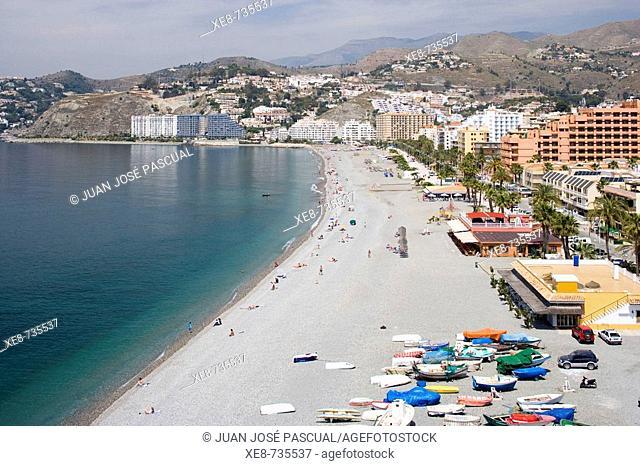 San Cristobal beach, Almuñecar. Granada province, Andalucia, Spain