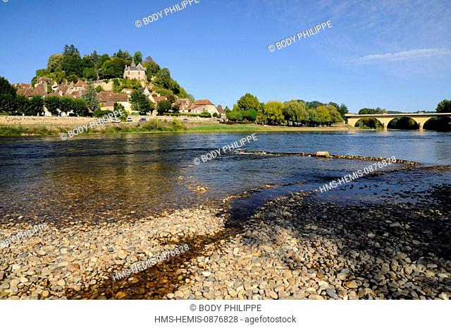 France, Dordogne, Perigord Noir, Limeuil, labelled Les Plus Beaux Villages de France (The Most Beautiful Villages of France)
