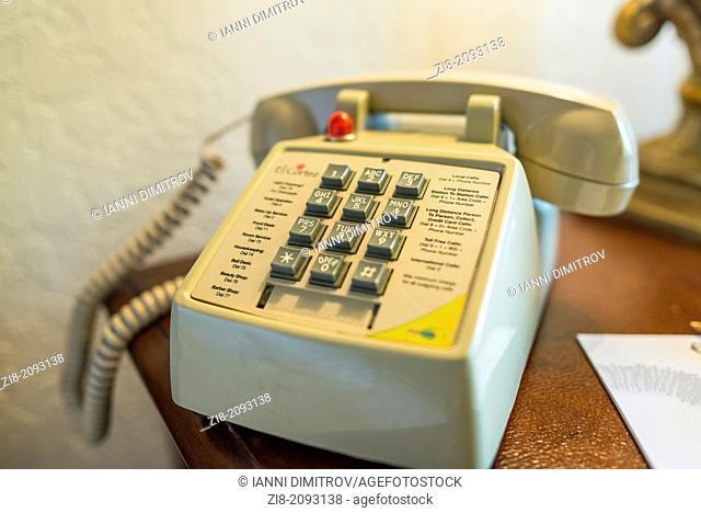 Hotel room telephone ,Las Vegas,Nevada,USA