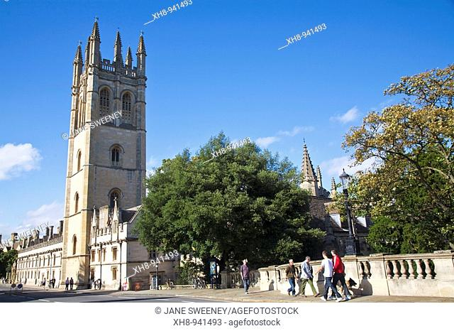 Magdalen College Great Tower, High Street, Oxford, Oxfordshire, England, UK