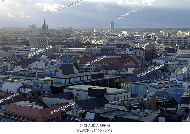 Germany, Bavaria, Munich, cityscape with Frauenkirche