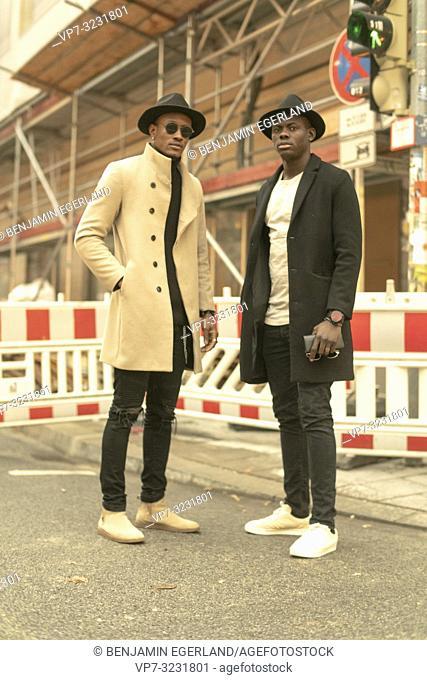 streetstyle, two men, Munich, Germany