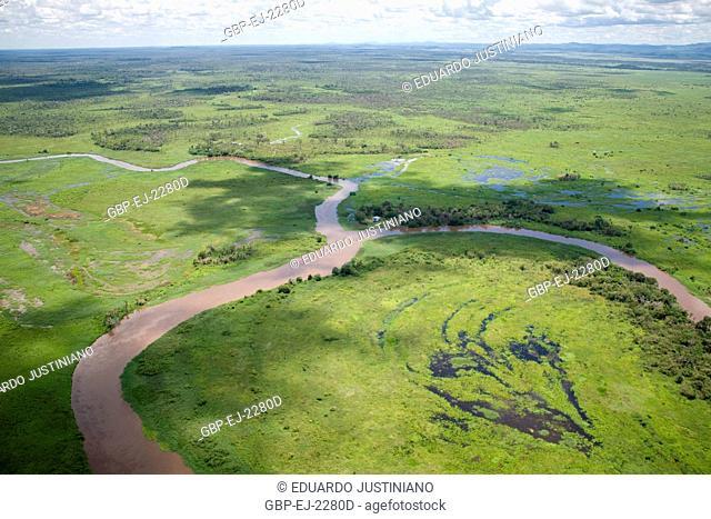 Miranda River, Flooded Field and Ebb tides, Miranda, Mato Grosso do Sul, Brazil