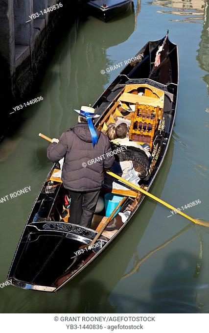 Couple in a Gondola, Venice, Italy