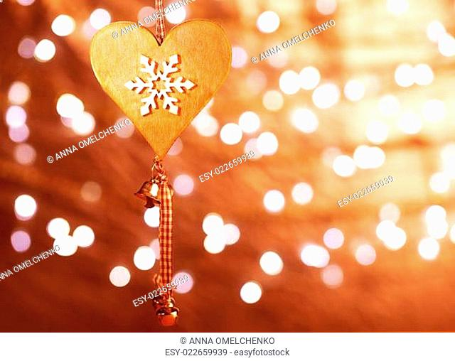 Christmas heart shaped decoration