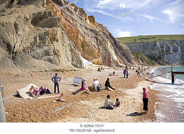 Coloured Sands, Needle Park. Alum Bay. Isle of Wight. UK