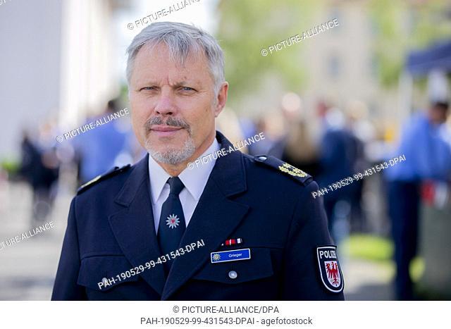 29 May 2019, Brandenburg, Oranienburg: Rainer Grieger, President of the Police University of Applied Sciences of the State of Brandenburg
