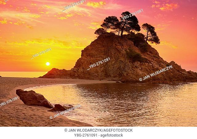 Sunrise at Cap Roig Beach, Costa Brava, Spain