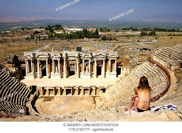 Roman Theatre at Pamukkale, Unesco World Heritage