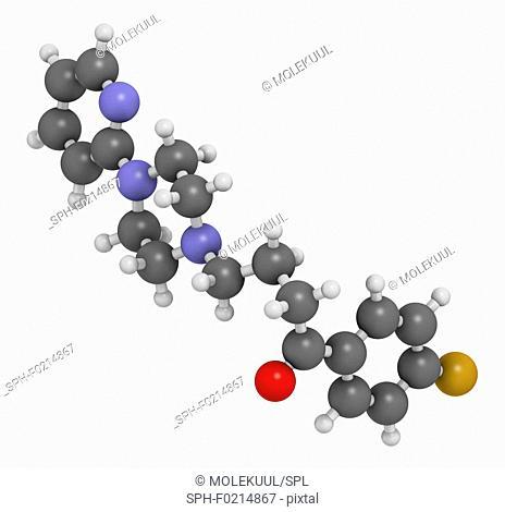 Azaperone antipsychotic drug molecule