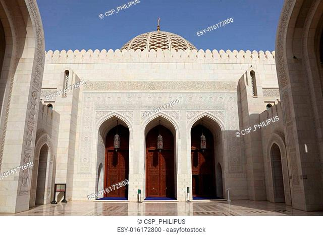 Sultan Qaboos Grand Mosque in Muscat, Sultanate of Oman