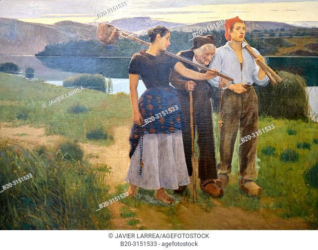 """""""Returning from the Plot"""", 1896, Joan Llimona, National Museum of Catalan Art, Museu Nacional d Art de Catalunya, MNAC, Barcelona, Spain, Europe"