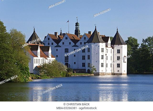 Castle 'Glücksburg', Schleswig - Holstein, Baltic coast, North Germany, Germany