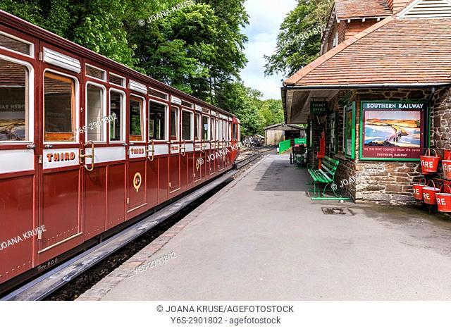 Woody Bay Railway Station, Lynton, Exmoor, Devon, England, UK