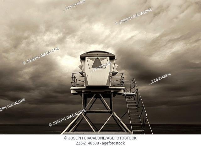 Lifeguard Tower at Ellen Browning Scripps Park. La Jolla, California, United States