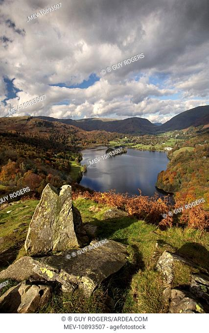 Loughrigg Terrace looking over Grasmere - October. Lake District - England - UK