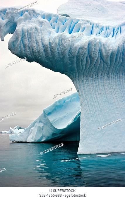 Striated Iceberg in Iceberg Graveyard, Antarctica