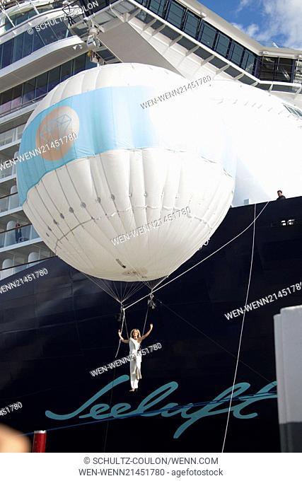 Helene Fischer christens TUI's latest cruise ship Mein Schiff 3 at Cruise Center Hafencity Featuring: Helene Fischer Where: Hamburg